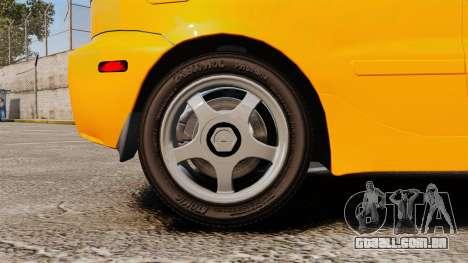 Daewoo Lanos Sport US 2001 para GTA 4 vista de volta