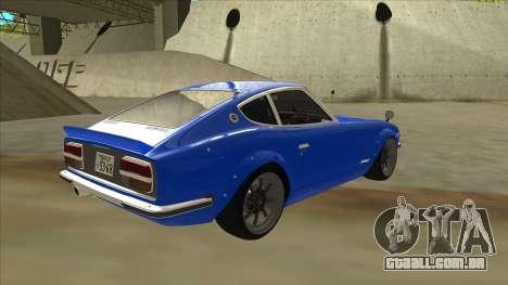 Nissan Wangan Midnight Devil Z S30 para GTA San Andreas vista direita