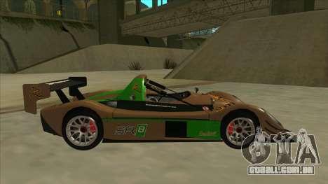 Radical SR8 RX para GTA San Andreas traseira esquerda vista