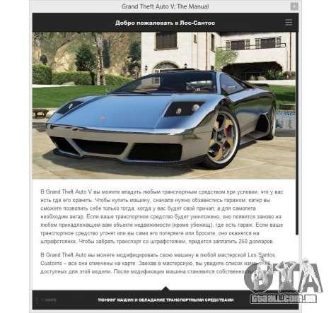 GTA 5 GTA v: Manual: o mapa interativo da área quarto screenshot