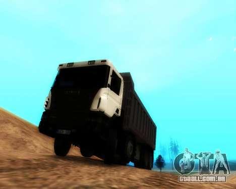 Scania P420 8X4 Dump Truck para GTA San Andreas esquerda vista