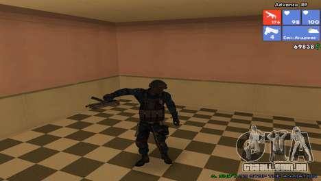 Pele da SWAT para GTA San Andreas por diante tela
