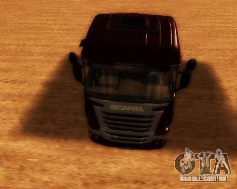Scania R440 para GTA San Andreas vista traseira