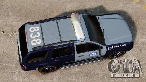 Chevrolet Trailblazer 2002 Massachusetts Police para GTA 4 vista direita