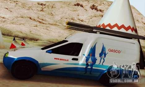Chevrolet Combo Gasco para GTA San Andreas vista traseira