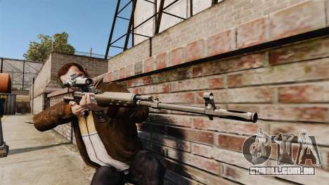 Dragunov sniper rifle v2 para GTA 4 terceira tela