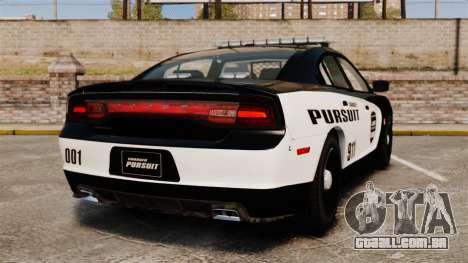 Dodge Charger Pursuit 2012 [ELS] para GTA 4 traseira esquerda vista