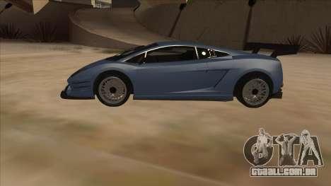 Lamborghini Gallardo LP560-4 Tuned para GTA San Andreas esquerda vista