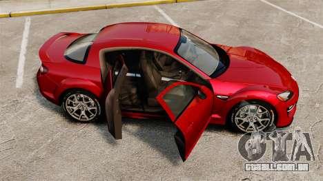Mazda RX-8 R3 2011 para GTA 4 vista lateral