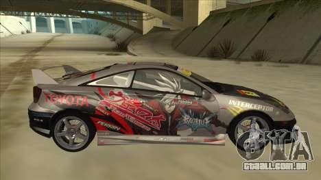 Toyota Celica ZZT231 Itasha para GTA San Andreas traseira esquerda vista