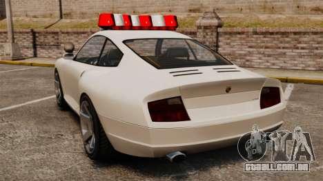Polícia cometa para GTA 4 traseira esquerda vista