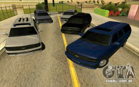 Chevrolet Suburban para vista lateral GTA San Andreas