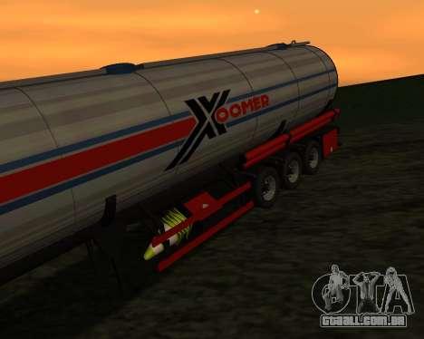 Semi-reboque Container Xoomer para GTA San Andreas vista traseira