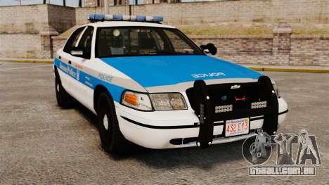 Ford Crown Victoria Police Massachusetts ELS para GTA 4