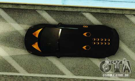 Lamborghini Sesto Elemento para GTA San Andreas vista inferior