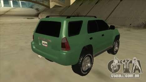 Toyota 4Runner 2009 v2 para GTA San Andreas vista direita