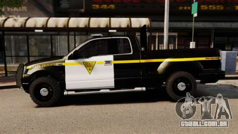 Ford F-150 v3.3 State Trooper [ELS & EPM] v3 para GTA 4 esquerda vista