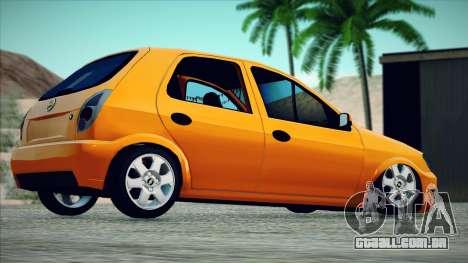 Chevrolet Celta para GTA San Andreas esquerda vista