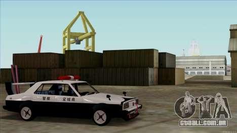 Nissan Skyline Bosozoku para GTA San Andreas traseira esquerda vista