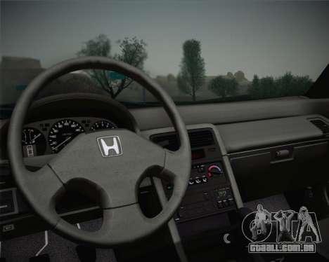 Honda CR-X 1991 para GTA San Andreas vista traseira