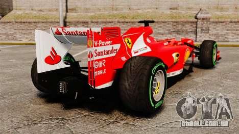 Ferrari F138 2013 v3 para GTA 4 traseira esquerda vista