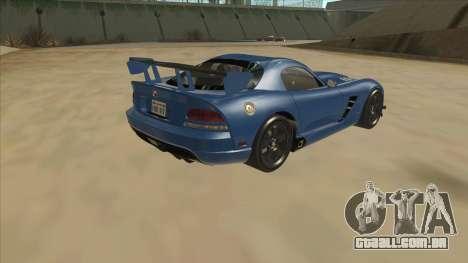 Dodge Viper SRT-10 ACR TT Black Revel para GTA San Andreas vista direita