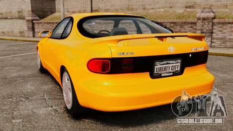 Toyota Celica ST185 GT4 para GTA 4 traseira esquerda vista