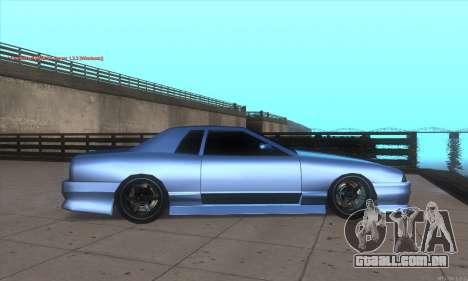 Elegy awesome D.edition para GTA San Andreas esquerda vista