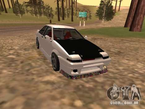 Toyota Corrola GTS JDM para GTA San Andreas
