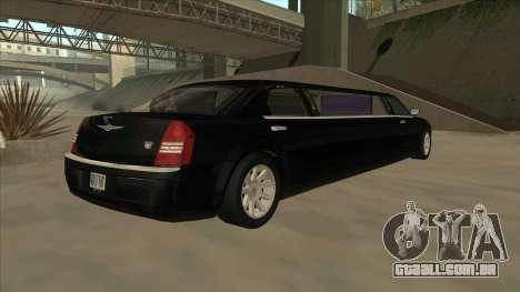 Chrysler 300C Limo 2006 para GTA San Andreas traseira esquerda vista