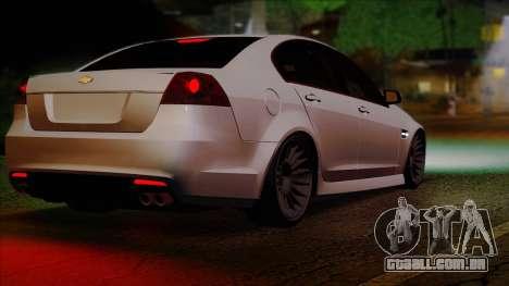Chevrolet Omega para GTA San Andreas traseira esquerda vista
