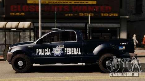 Ford F-150 De La Policia Federal [ELS & EPM] v2 para GTA 4 esquerda vista