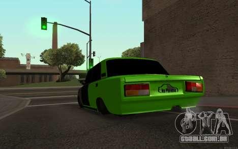 Rogue de 2105 VAZ para GTA San Andreas traseira esquerda vista