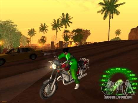 Nova pele Groove st. para GTA San Andreas por diante tela