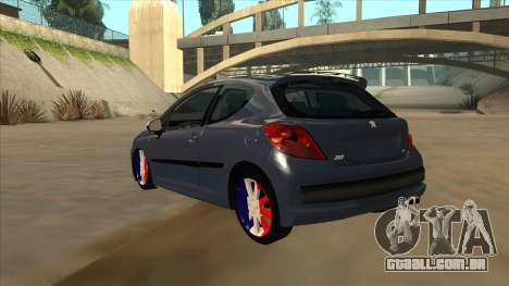 Peugeot 207 RC para GTA San Andreas vista traseira