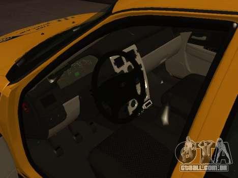 LADA Priora 2170 táxi para GTA San Andreas traseira esquerda vista