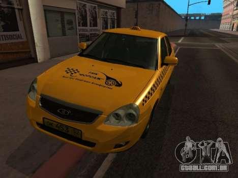 LADA Priora 2170 táxi para GTA San Andreas