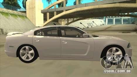 Dodge Charger RT 2011 V2.0 para GTA San Andreas traseira esquerda vista