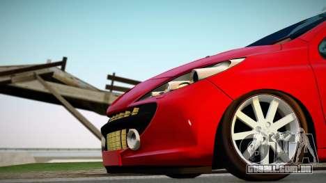 Peugeot 207 para GTA San Andreas vista direita