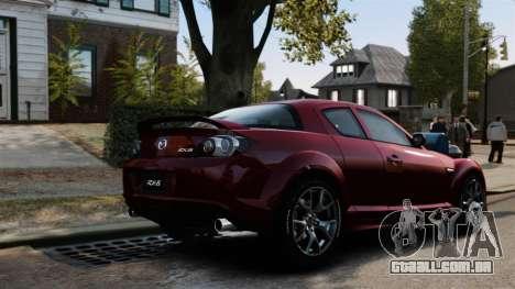 Mazda RX-8 R3 2011 para GTA 4 vista superior