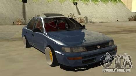 Toyota Corolla 1.6 1997 Hellaflush para GTA San Andreas esquerda vista