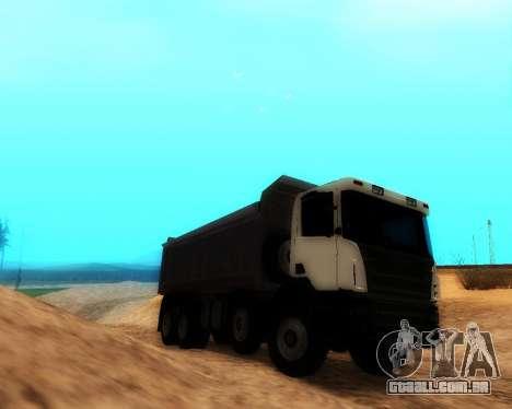 Scania P420 8X4 Dump Truck para GTA San Andreas traseira esquerda vista