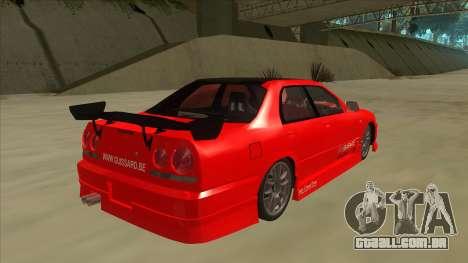Nissan Skyline ER34 JDMGarage para GTA San Andreas vista direita