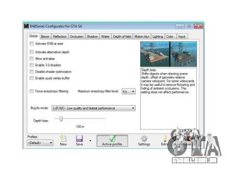 ENB Series Configurator (ENB CFG) para GTA San Andreas