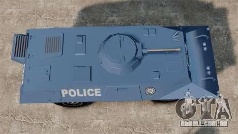 S.W.A.T. Police Van para GTA 4 vista direita