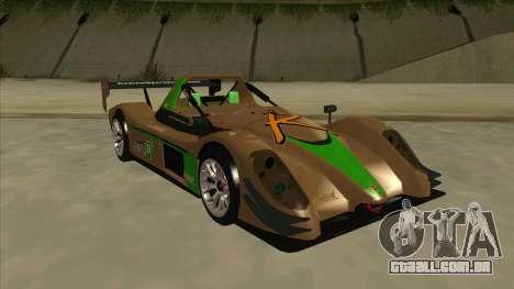 Radical SR8 RX para GTA San Andreas esquerda vista