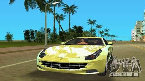Ferrari FF 2011 para GTA Vice City deixou vista