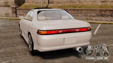 Toyota Mark II 1990 v2 para GTA 4 traseira esquerda vista