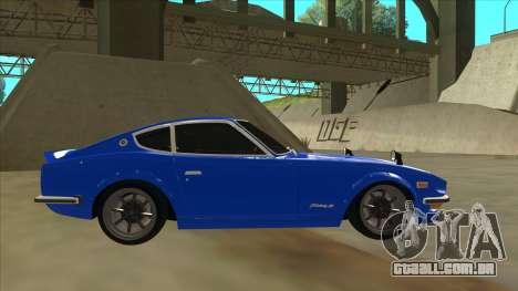 Nissan Wangan Midnight Devil Z S30 para GTA San Andreas traseira esquerda vista