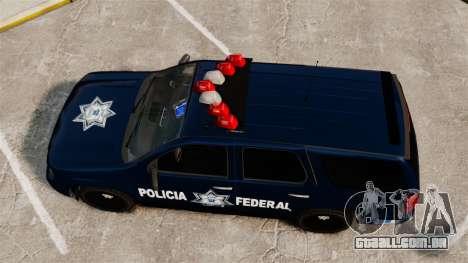 Chevrolet Tahoe 2007 De La Policia Federal [ELS] para GTA 4 vista direita